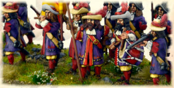 Spanish Officers, Pikemen and  Musketeers