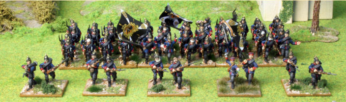 Below. The all conquering Prussian infantry.