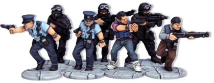 A ready made squad for A Fistful of Kung Fu, the Hong Kong Cinema wargame from Osprey Publishing.