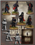 This deal gets you the Dracula's America rulebook plus The Red Hand Coven, the Vampire posse in Dracula's America. This posse includes: 2 Broodkin, 1 Carpathian Guard, 6 Gunfighters.