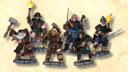 The Wizard's Party Wizard & Apprentice, plus 4 adventurer models Elite Foot & Spellcaster @ 10 points