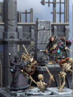 Skeletons are the animated bones of some long dead creature, held together by the power of magic. Most skeletons in Frostgrave were originally humans, but skeletons of dogs or other animals are not uncommon.
