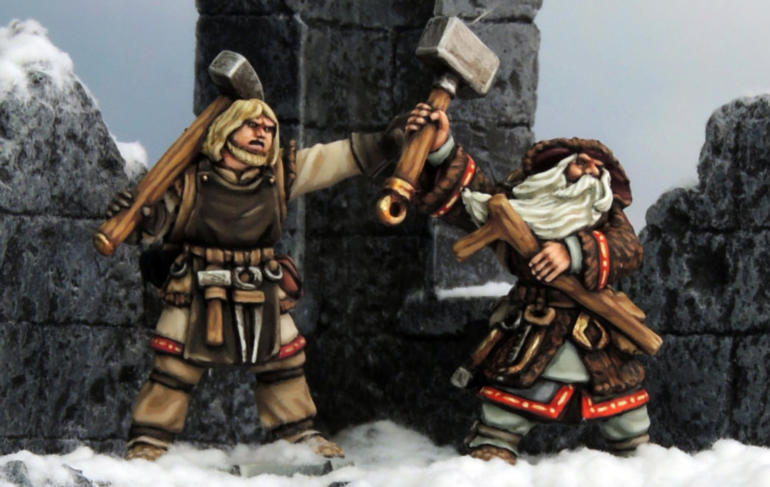 The Enchanter and his Apprentice in the ruins of Frostgrave