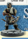 This box set of hard plastic figures allows you to build 20 different Soldiers to play in the game Frostgrave. To help you design the perfect Wizard's warband, the box set contains 100 weapon/ arm variants, 40 heads and over 30 pieces of equipment.
