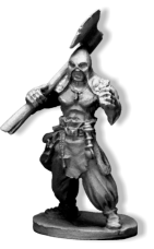 When Bob naismith designed the Culist Captain figure for Frostgrave, he incorporated the right arm into the cloak, giving a one piece fitting. After it was released, Bob had a play around and made the arm and cloak two separate pieces.