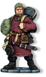 Nicknamed 'pack mules' by other soldiers, these overburdened henchmen normally follow close behind a wizard or apprentice in case the spellcaster should require a specific item. Unlike other soldiers, pack mules may carry up to three items.