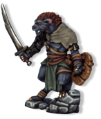 Gnoll Chieftain, star of the 2nd Frostgrave Supplement 'Into the Breeding Pits', due out in 2016.