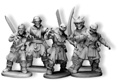 Both Frostgrave plastic sets have been designed to compliment each other. All the arms, heads, weapons and extra parts can be used with the bodies from both sets making the number of figure possibilities almost endless.