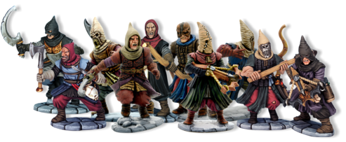 The Frostgrave Cultists box set contains enough parts to make 20 different figures. There are multiple heads, arms, weapons and accoutrements per frame, no two warbands will ever be the same.