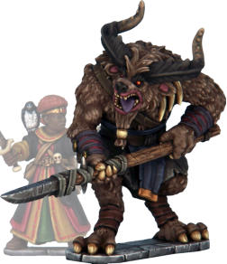 Borock. While gnolls are generally somewhat cowardly by nature, Borock's savagery has spread to the rest of his tribe. The complex workings of Borock's hybrid brain make him immune to Mind Control.