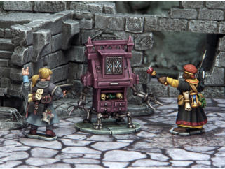 Back when the Maze was a functioning Collegium, the staff were supported by a small army of 'porters'. These constructs, unique to the Collegium, served as door guards, messages carriers, manual labourers, and low-level security.