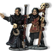 Necromancers study the magic and spells associated with death, as well as the creation and control of undead creatures such as zombies and animated skeletons. They generally wear dark colours (most commonly black).