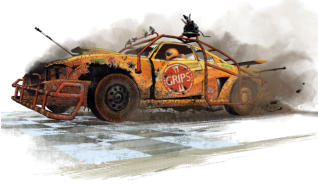 Shoot, ram, skid, and loot your way through the ruins of civilisation with Gaslands: Refuelled, the tabletop miniature wargame of post-apocalyptic vehicular mayhem. With all-new material including expanded and enhanced perks, sponsors, vehicle types.