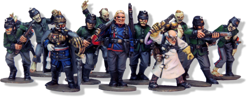 Count Friedrich von Ströheim & The Society Of Thule, painted by Dave Woodward