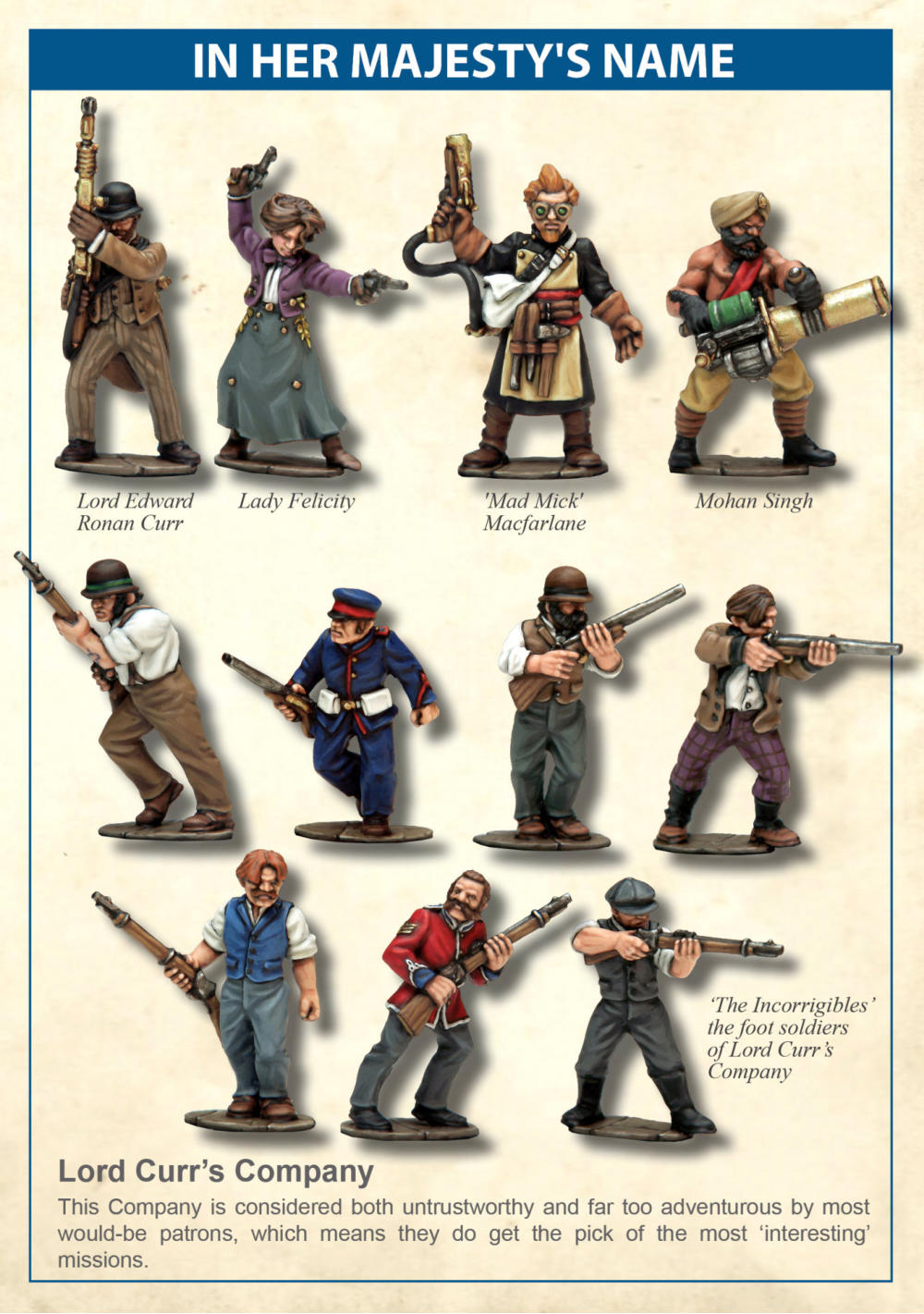 IN HER MAJESTYS NAME Steampunk Skirmish Wargaming Rules
