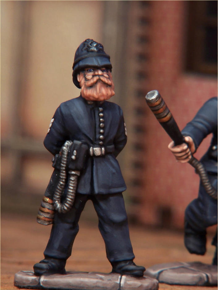 I painted one of the Constables as a Sergeant, with white Sergeant stripes and gloves.