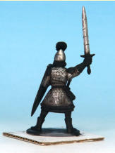 7. Matt Black again, but this time in very small and fine amounts to add distress and damage marks on the helmets and swords, each of the marks is highlighted with Shining Silver.