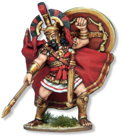 Figure stands 57mm high, base to top of crest. Designed to be used with 28mm sized figures. Made of metal, supplied unpainted. Requires assembly using glue, some modelling experience required. Not suitable for children under 14 years old.