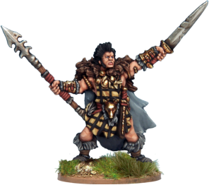 Cu Chulainn, Hound of Ulster, Hero of Ancient Ireland. The figure is available here on its own as part of the Nickstarter promotion. Cu Chulainn will only be available in the box set after the Nickstarter promotion ends in November 2013.