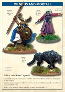 Designed to be used as Legendary creatures in the game Of Gods and Mortals. Figures are designed to be used with 28mm sized figures. They are made of metal and supplied unpainted. Requires assembly using glue, some modelling experience required. Not suita