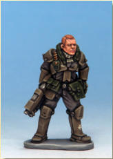 Corporal Larsson is an example of a grunt from Sigurdsson's Brigade (a wholly owned subsidiary of Conflict Resolution Inc.) – one of the many independent mercenary formations found across the galaxy.