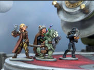 We used lots of painted resin scenery from Adrian's Walls in the photos for Rogue Stars