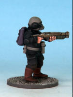 "Shotgun. These firearms trade some of the range of the carbine for greater hitting power. Shotguns take up 2 gear slots, have a maximum range of 12"", and have a +1 Damage modifier. Any figure that normally carries a carbine may trade it for a shotgun."