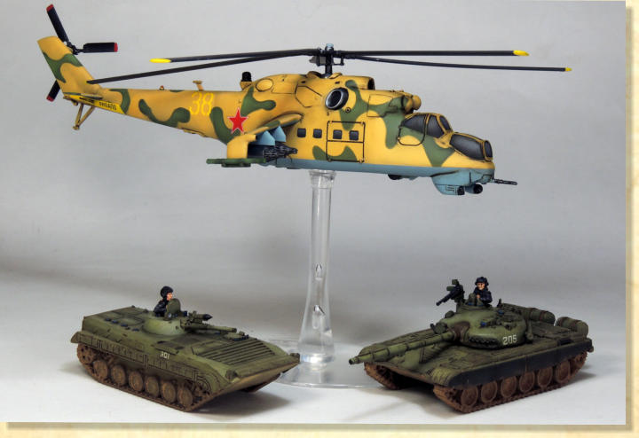 "It's popular to describe the Hind as a ""flying tank,"" but ""flying infantry fighting vehicle"" is a more accurate description. Inventor Mikhail Mil's initial mock-up of the V-24—which would become the Hind—was actually similar to the U.S. Army's UH-1 Huey ."