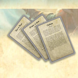 This expansion for Frostgrave consists of 40 Ulterior Motive cards, which add variety, depth, and new tactical challenges to wargames in the Frozen City. Each card presents the player with a specific task to accomplish and offers rewards if they succeed.