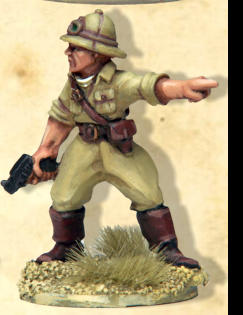 from SWW201 - Italian Command. Italian Infanry in sun helmets and sahariana tunics for the North African campaign. Also suitable for the Italian conquest and loss of Abyssinia.