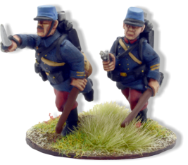 French Officers Advancing