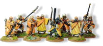 The Shoei Monk Buntai box set gives you the perfect starter army to begin playing Ronin. Miniatures are 28mm sized, made of metal and supplied unpainted. Ronin is copyright Osprey Publishing 2013.