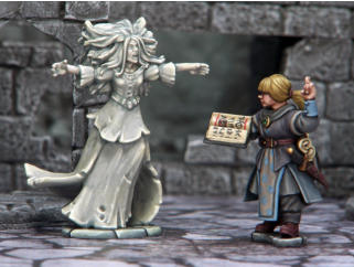 Both models are Frostgrave figures